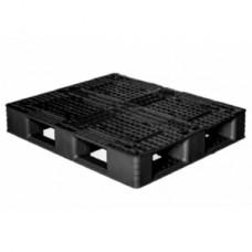 Pallet nhựa đen 1200x1000mm (tải động-tải tĩnh: 1-4 tấn) PL1210-ND