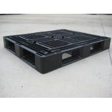 Pallet nhựa đen 1200x1000mm (tải động-tải tĩnh: 1-3 tấn) PL1210-H